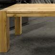 Jídelní stůl s přiznaným podnožím - Dub - Jídelní stůl s přiznaným podnožím