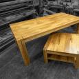 Jídelní stůl s přiznaným podnožím - Dub - Jídelní stůl s přiznaným podnožím - Dub