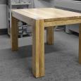 Jídelní stůl s přiznaným podnožím - Dub - Jídelní stůl s přiznaním podnožím